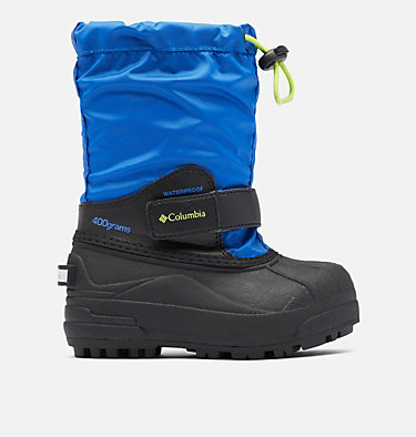 Little Kids' Powderbug™ Forty Snow Boot CHILDRENS POWDERBUG™ FORTY | 408 | 10, Cobalt, Acid Green, front