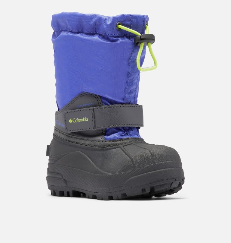 CHILDRENS POWDERBUG™ FORTY | 546 | 8 Little Kids' Powderbug™ Forty Snow Boot, Purple Lotus, Voltage, 3/4 front