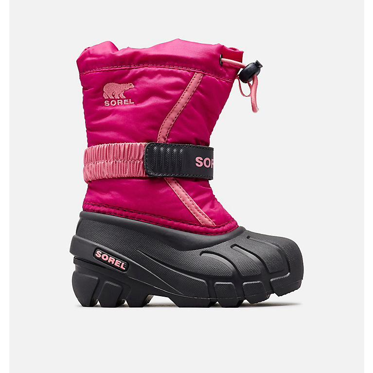 Sorel Youth Flurry Deep Blush Tropic Pink Kids Winter Thermal Snow Boots