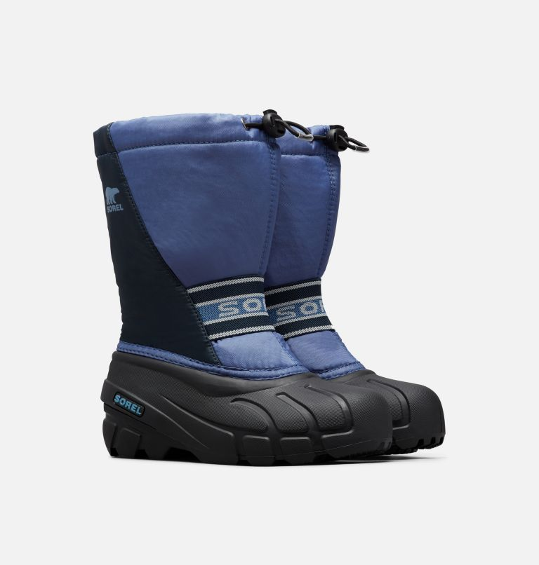 YOUTH CUB™ | 498 | 7 Youth Cub™ Snow Boot, Blues, 3/4 front