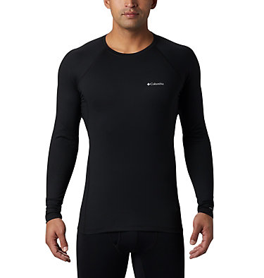 Men's Heavyweight Stretch Long Sleeve Shirt Heavyweight Stretch Long Sleeve Top | 613 | L, Black, front