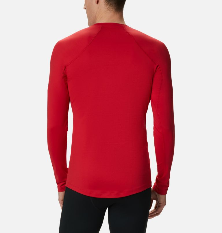 Heavyweight Stretch Long Sleeve Top | 613 | XL Men's Heavyweight Stretch Long Sleeve Shirt, Mountain Red, back