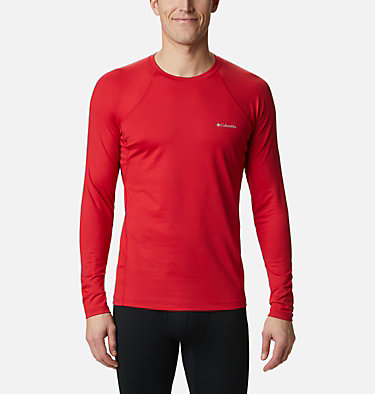 Men's Heavyweight Stretch Long Sleeve Shirt Heavyweight Stretch Long Sleeve Top | 613 | L, Mountain Red, front