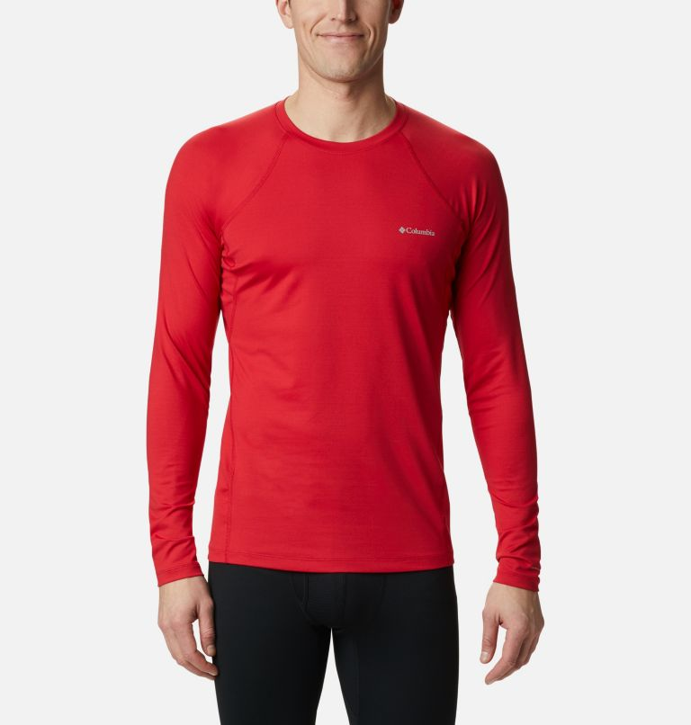 Heavyweight Stretch Long Sleeve Top | 613 | XL Men's Heavyweight Stretch Long Sleeve Shirt, Mountain Red, front