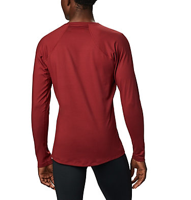 Men's Heavyweight Stretch Long Sleeve Shirt Heavyweight Stretch Long Sleeve Top | 613 | L, Red Jasper, back