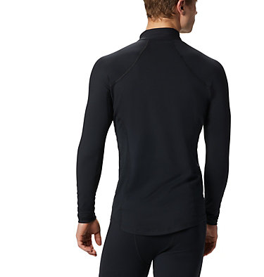 Men's Midweight Stretch Long Sleeve Baselayer Half Zip Shirt Midweight Stretch Long Sleeve Half Zip | 010 | L, Black, back