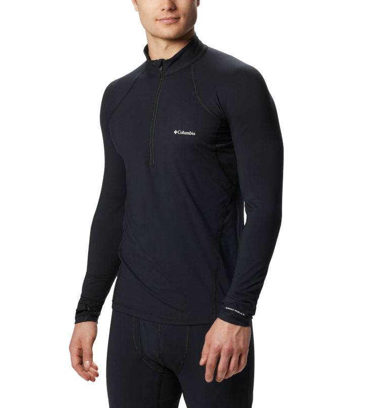 Men's Midweight Stretch Long Sleeve Baselayer Half Zip Shirt Men's Midweight Stretch Long Sleeve Baselayer Half Zip Shirt, front