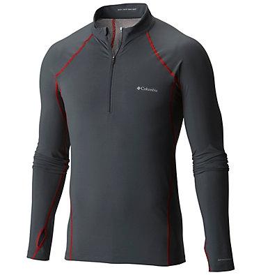 Men's Midweight Stretch Long Sleeve Baselayer Half Zip Shirt , front