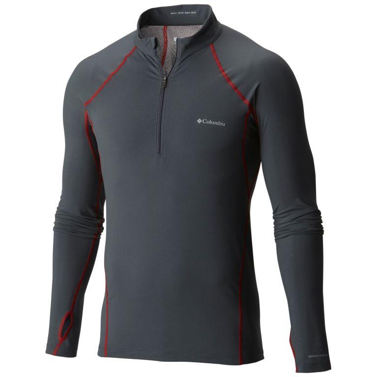 Columbia Mens Midweight Half Zip Omni Heat Top Black Shirt