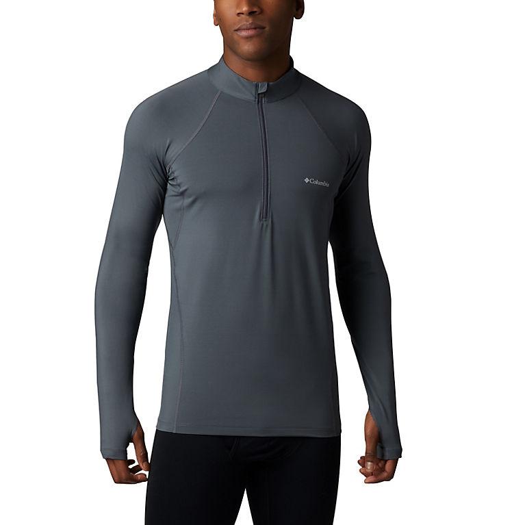 d54cf9b5d Men's Midweight Stretch Long Sleeve Baselayer Half Zip Shirt