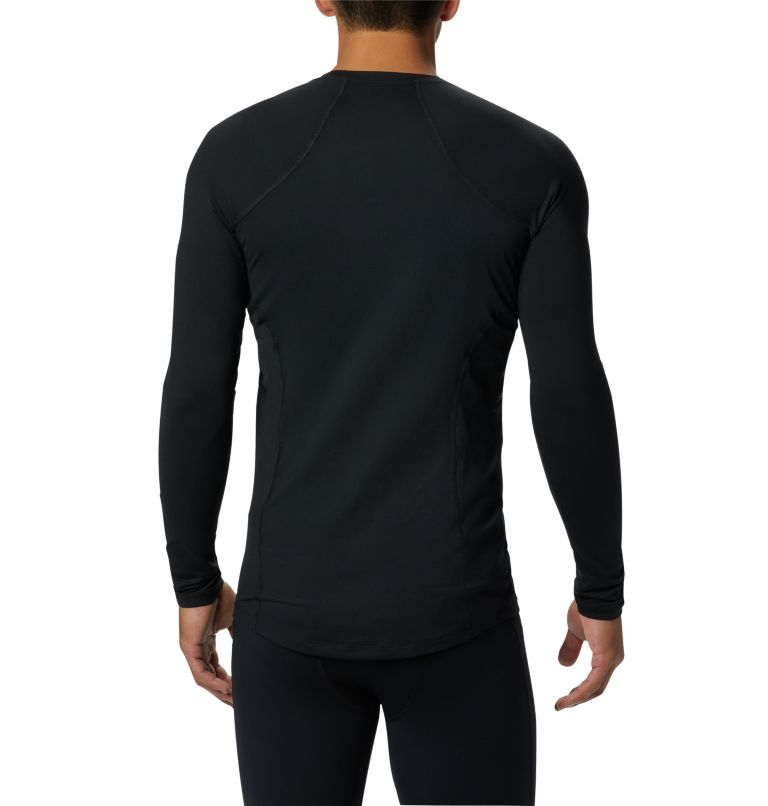 Midweight Stretch Long Sleeve Top | 010 | XL Men's Midweight Stretch Baselayer Long Sleeve Shirt, Black, back