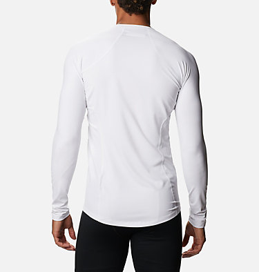 Men's Midweight Stretch Baselayer Long Sleeve Shirt Midweight Stretch Long Sleeve Top | 057 | L, White, back