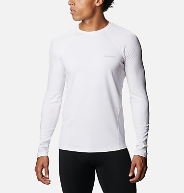Men's Midweight Stretch Baselayer Long Sleeve Shirt Midweight Stretch Long Sleeve Top | 057 | L, White, front