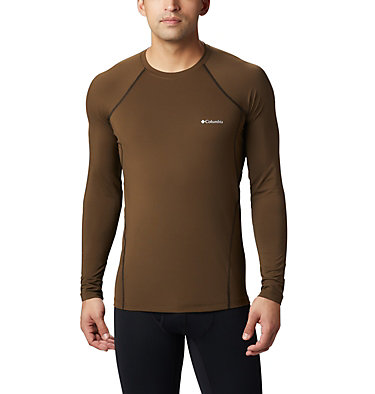 Top Midweight Stretch da uomo a manica lunga e mezza zip Midweight Stretch Long Sleeve  | 319 | XL, Olive Green, front