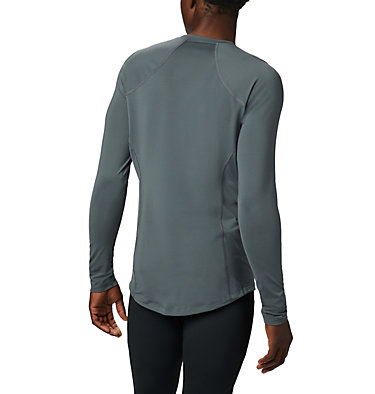 Men's Midweight Stretch Baselayer Long Sleeve Shirt - Big Midweight Stretch Long Sleeve Top | 057 | 1X, Graphite, back