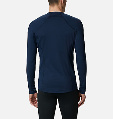 Men's Midweight Stretch Baselayer Long Sleeve Shirt - Tall Midweight Stretch Long Sleeve Top | 464 | 2XT, Collegiate Navy, back