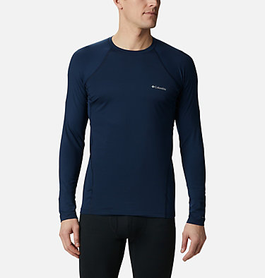 Men's Midweight Stretch Baselayer Long Sleeve Shirt - Tall Midweight Stretch Long Sleeve Top | 464 | 2XT, Collegiate Navy, front