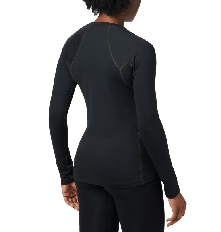 Heavyweight Stretch Long Sleeve Top | 010 | S Women's Heavyweight Stretch Long Sleeve Top, Black, back