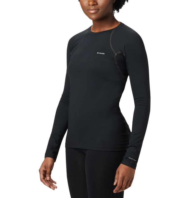 Heavyweight Stretch Long Sleeve Top | 010 | S Women's Heavyweight Stretch Long Sleeve Top, Black, front