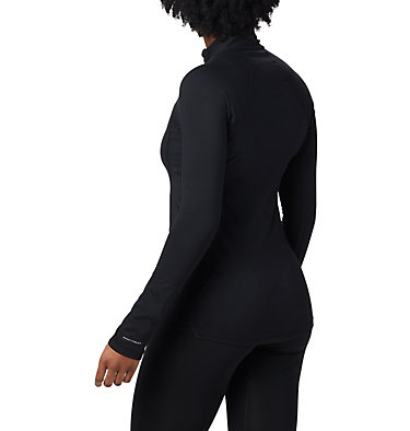 Women's Midweight Stretch Baselayer Long Sleeve Half Zip Shirt , back