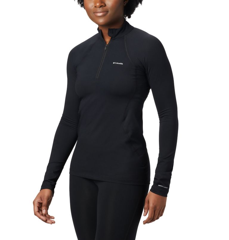 Midweight Stretch Long Sleeve  | 010 | XS  Midweight Stretch Long Sleeve Half Zip da donna, Black, front