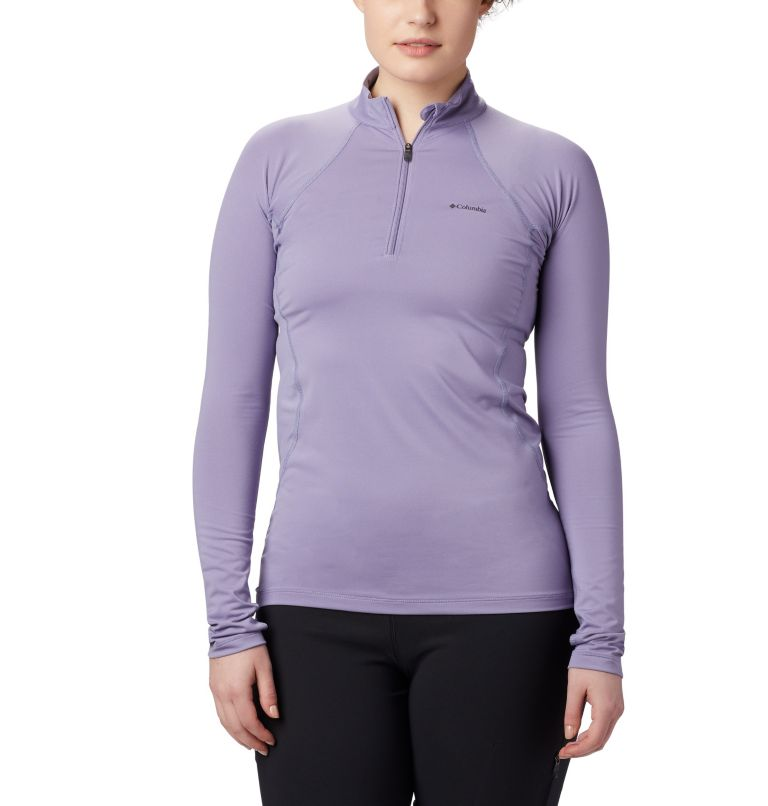 Women's Midweight Stretch Baselayer Long Sleeve Half Zip Shirt Women's Midweight Stretch Baselayer Long Sleeve Half Zip Shirt, front