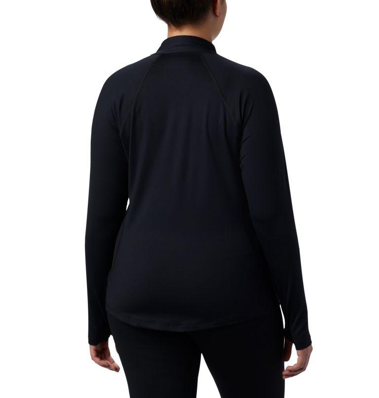 Women's Midweight Stretch Long Sleeve Half Zip - Plus Size Women's Midweight Stretch Long Sleeve Half Zip - Plus Size, back
