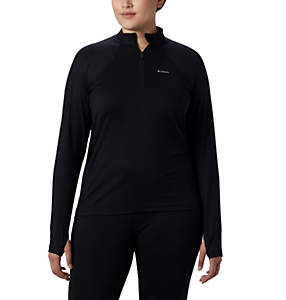 Women's Midweight Stretch Long Sleeve Half Zip - Plus Size