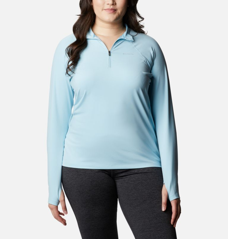 Women's Midweight Stretch Long Sleeve Half Zip - Plus Size Women's Midweight Stretch Long Sleeve Half Zip - Plus Size, front
