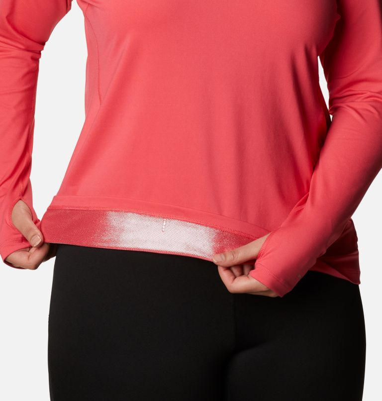 Chandail à manches longues avec demi-fermeture éclair en tissu poids moyen extensible pour femme - Grandes tailles Chandail à manches longues avec demi-fermeture éclair en tissu poids moyen extensible pour femme - Grandes tailles, a3