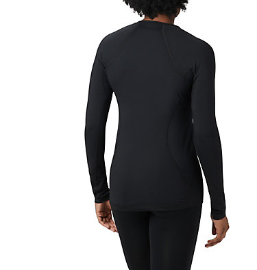 Women's Midweight Stretch Baselayer Long Sleeve Shirt Midweight Stretch Long Sleeve Top | 010 | L, Black, back