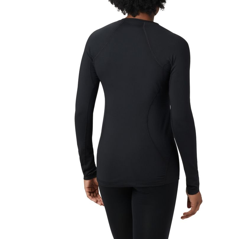 Midweight Stretch Long Sleeve Top | 010 | XS Women's Midweight Stretch Baselayer Long Sleeve Shirt, Black, back