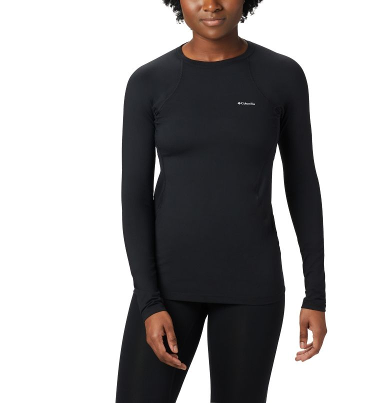 Midweight Stretch Long Sleeve Top | 010 | XS Women's Midweight Stretch Baselayer Long Sleeve Shirt, Black, front