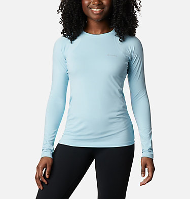 Camiseta de manga larga Midweight para mujer Midweight Stretch Long Sleeve  | 548 | L, Sky Blue, front