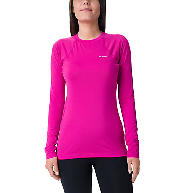 Midweight Langarmoberteil aus Stretchmaterial für Damen Midweight Stretch Long Sleeve  | 548 | L, Fuchsia, front