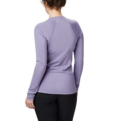 Camiseta de manga larga Midweight para mujer Midweight Stretch Long Sleeve  | 548 | L, Dusty Iris, back