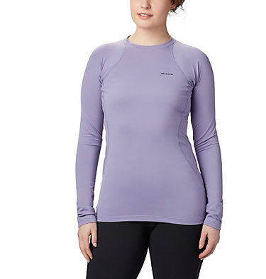 Top Midweight Stretch da donna a manica lunga e mezza zip , front