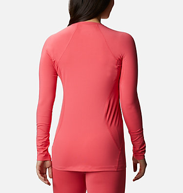 Women's Midweight Stretch Baselayer Long Sleeve Shirt Midweight Stretch Long Sleeve  | 548 | XS, Bright Geranium, back