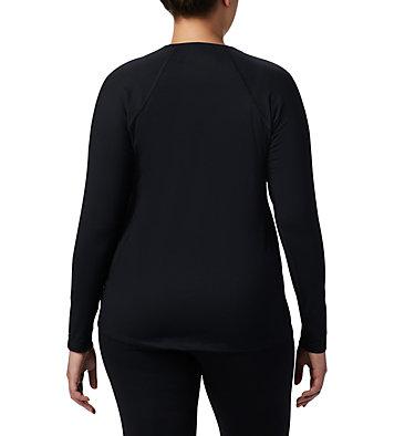 Women's Midweight Stretch Long Sleeve Shirt - Plus Size Midweight Stretch Long Sleeve Top | 673 | 1X, Black, back