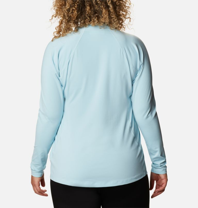 Midweight Stretch Long Sleeve Top | 427 | 1X Women's Midweight Stretch Long Sleeve Shirt - Plus Size, Sky Blue, back