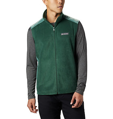 Men's Steens Mountain™ Fleece Vest Steens Mountain™ Vest | 397 | M, Rain Forest, Thyme Green, front