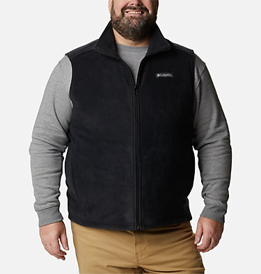 Men's Steens Mountain™ Fleece Vest - Big Steens Mountain™ Vest | 370 | 4X, Black, front