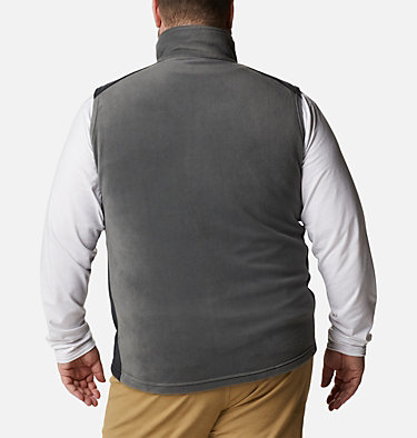 Men's Steens Mountain™ Fleece Vest - Big Steens Mountain™ Vest | 370 | 4X, Grill, Black, back