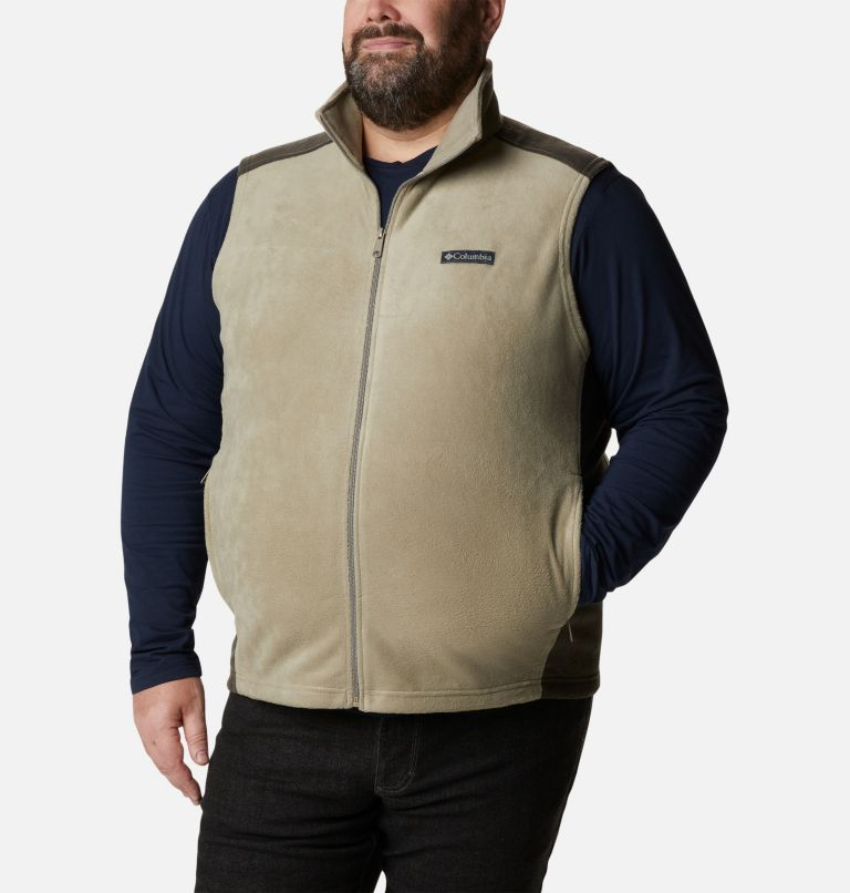 Steens Mountain™ Vest | 221 | 1X Men's Steens Mountain™ Fleece Vest - Big, Tusk, Buffalo, front