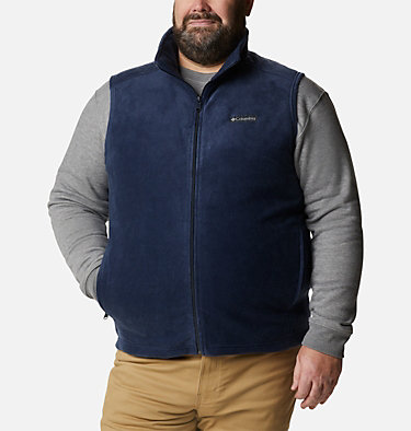 Men's Steens Mountain™ Fleece Vest - Big Steens Mountain™ Vest | 370 | 4X, Collegiate Navy, front
