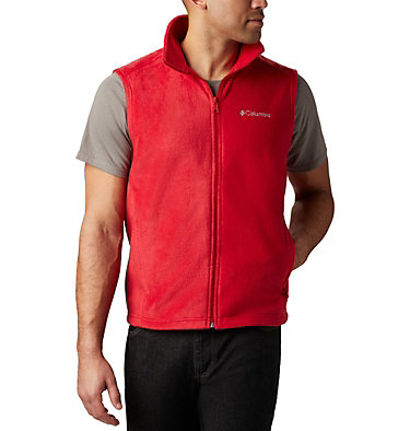 Men's Steens Mountain™ Fleece Vest - Big Steens Mountain™ Vest | 370 | 4X, Mountain Red, front