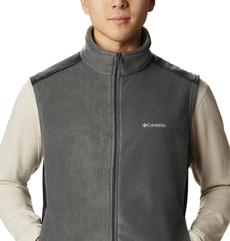 Steens Mountain™ Vest | 028 | LT Men's Steens Mountain™ Fleece Vest - Tall, Grill, Black, a2