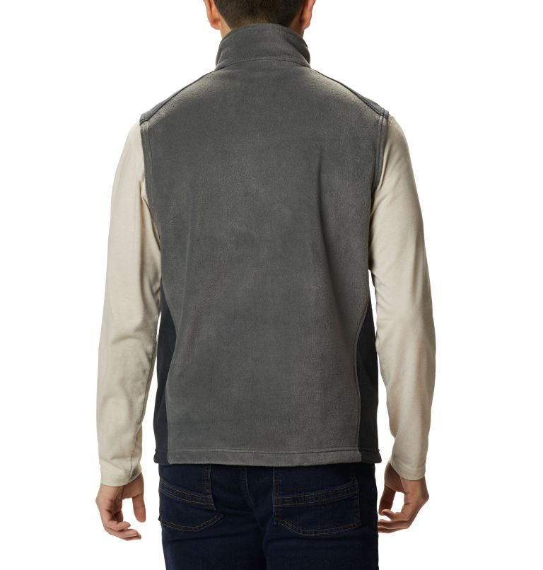 Steens Mountain™ Vest | 028 | LT Men's Steens Mountain™ Fleece Vest - Tall, Grill, Black, back