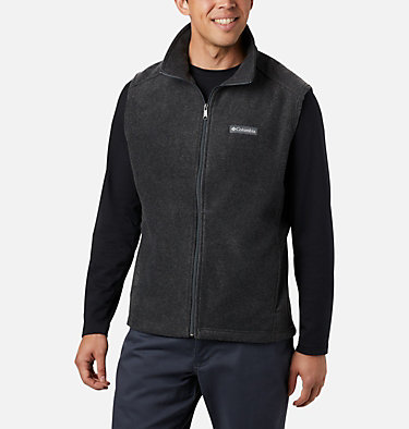 Men's Steens Mountain™ Fleece Vest - Tall Steens Mountain™ Vest | 613 | 5XT, Charcoal Heather, front