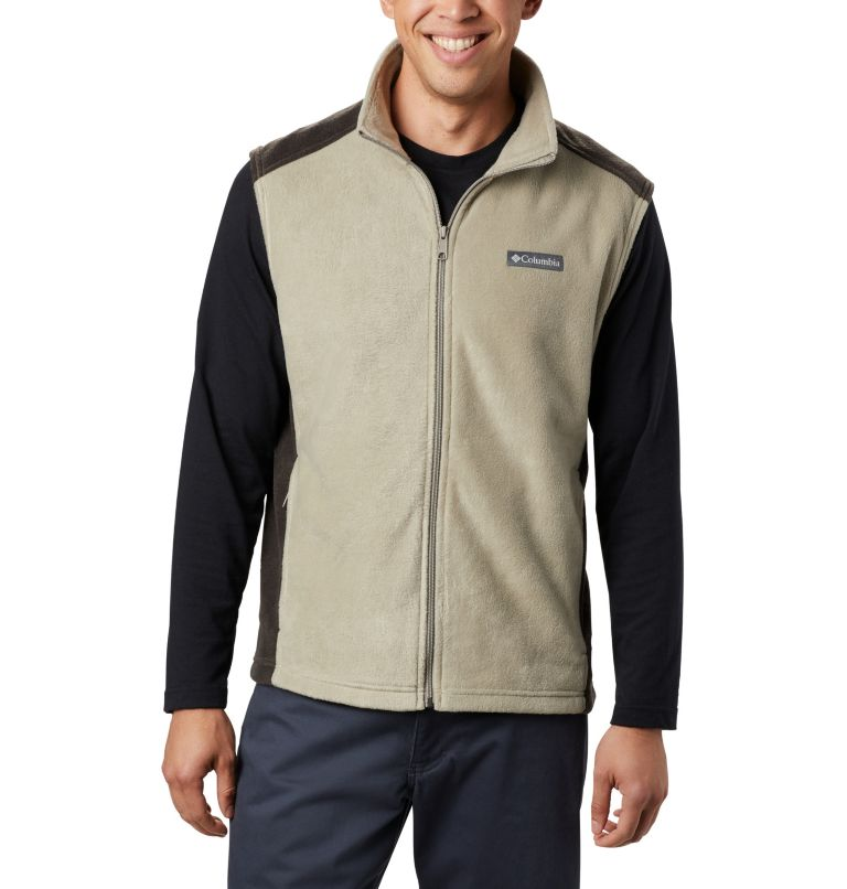 Steens Mountain™ Vest | 221 | LT Men's Steens Mountain™ Fleece Vest - Tall, Tusk, Buffalo, front